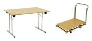 Klapborde billige til kantine m.m. 80 x 120 cm. Vi giver gerne et godt tilbud på disse klapborde.