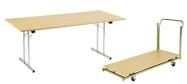 Klapborde billige til kantine m.m. 80 x 180 cm. Vi giver gerne et godt tilbud på disse klapborde.