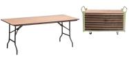 Event klapborde 80 x 180 cm. Vi giver gerne et godt tilbud på disse klapborde.
