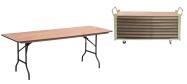 Event klapborde 80 x 200 cm. Vi giver gerne et godt tilbud på disse klapborde.