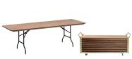 Event klapborde 80 x 240 cm. Vi giver gerne et godt tilbud på disse klapborde.