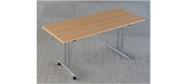 Fumac klapborde serie 1500 størrelse 160 x 70 cm. Kan fås i bøg, ahorn, lys grå eller hvid. Der kan også monteres hjul på disse klapborde.