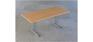 Fumac klapborde serie 1500 størrelse 180 x 80 cm. Fås i lys grå, ahorn, bøg eller hvid. Der kan monteres hjul på disse klapborde. Der ydes 5 års garanti på klapbordene.