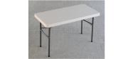 Lifetime plastbord 122 x 61 cm. Lifetime giver 10 års garanti på dette klapbord.