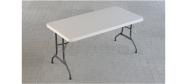 Lifetime plastbord 152 x 76 cm. Lifetime giver 10 års garanti på dette klapbord.