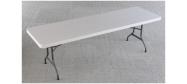 Lifetime plastbord 245 x 76 cm. Lifetime giver 10 års garanti på dette klapbord.