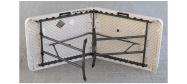 klapborde Lifetime 183 x 76 cm. Bordet kan foldes på midten og fabrikken giver 10 års garanti på disse klapborde.