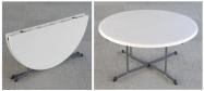 Klapborde Lifetime Ø182 cm. Kan foldes på midten. Lifetime giver 10 års garanti på dette klapbord.