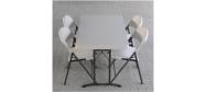Klapbord 120 x 76 cm. med klapstole fra Lifetime