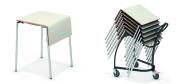 Klapborde stabelbord 60 x 50 cm. ideel til eksamensbrug. Vi giver gerne et godt tilbud på disse klapborde.
