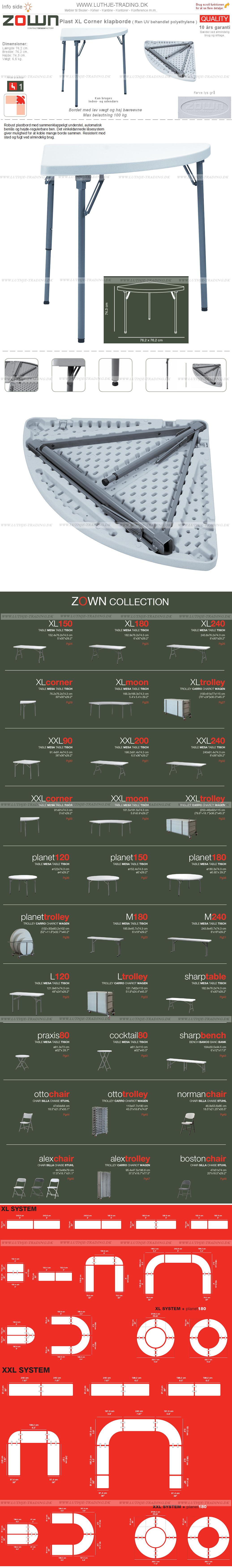 Klapborde ZOWN XL Corner