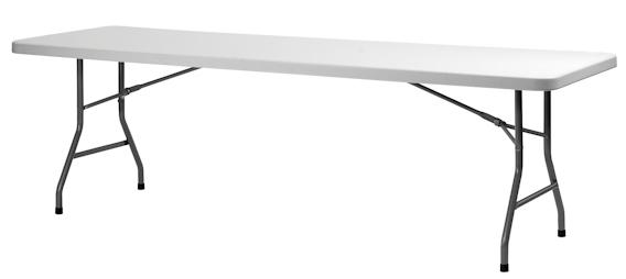 Klapborde ZOWN XL240  76 x 244 cm. plastbord.